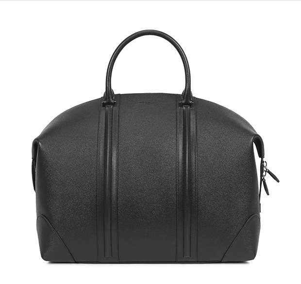 Givenchyblack Grained Leather Holdall