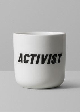 Playtype activist mug