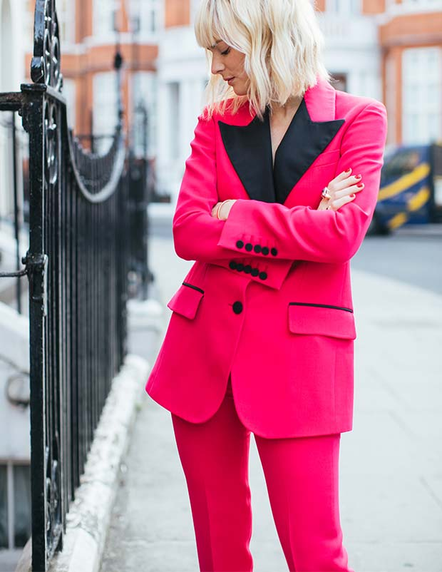 """6aee13f322da """"This is the very definition of a party suit. I'm quite petite and the  proportions of this suit are perfect – the trousers are so well cut and the  slim fit ..."""